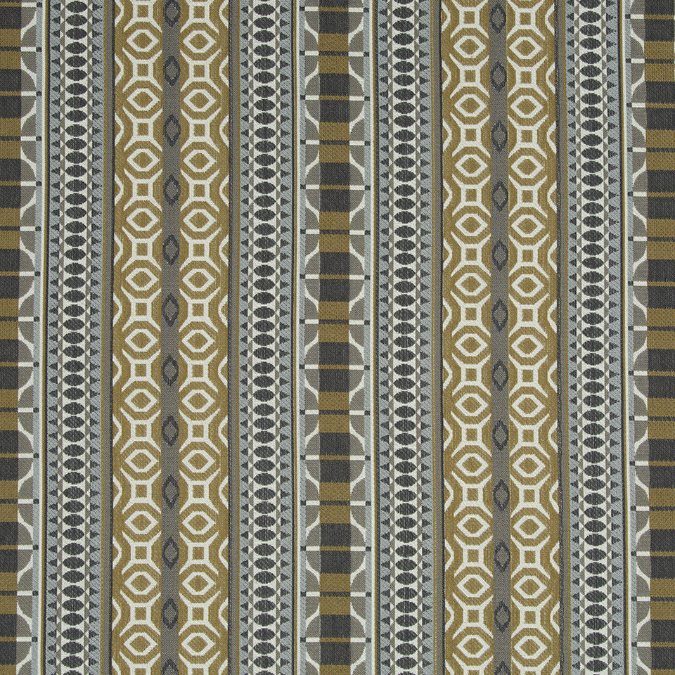 Tia Stripe Rr Fabric - Amber