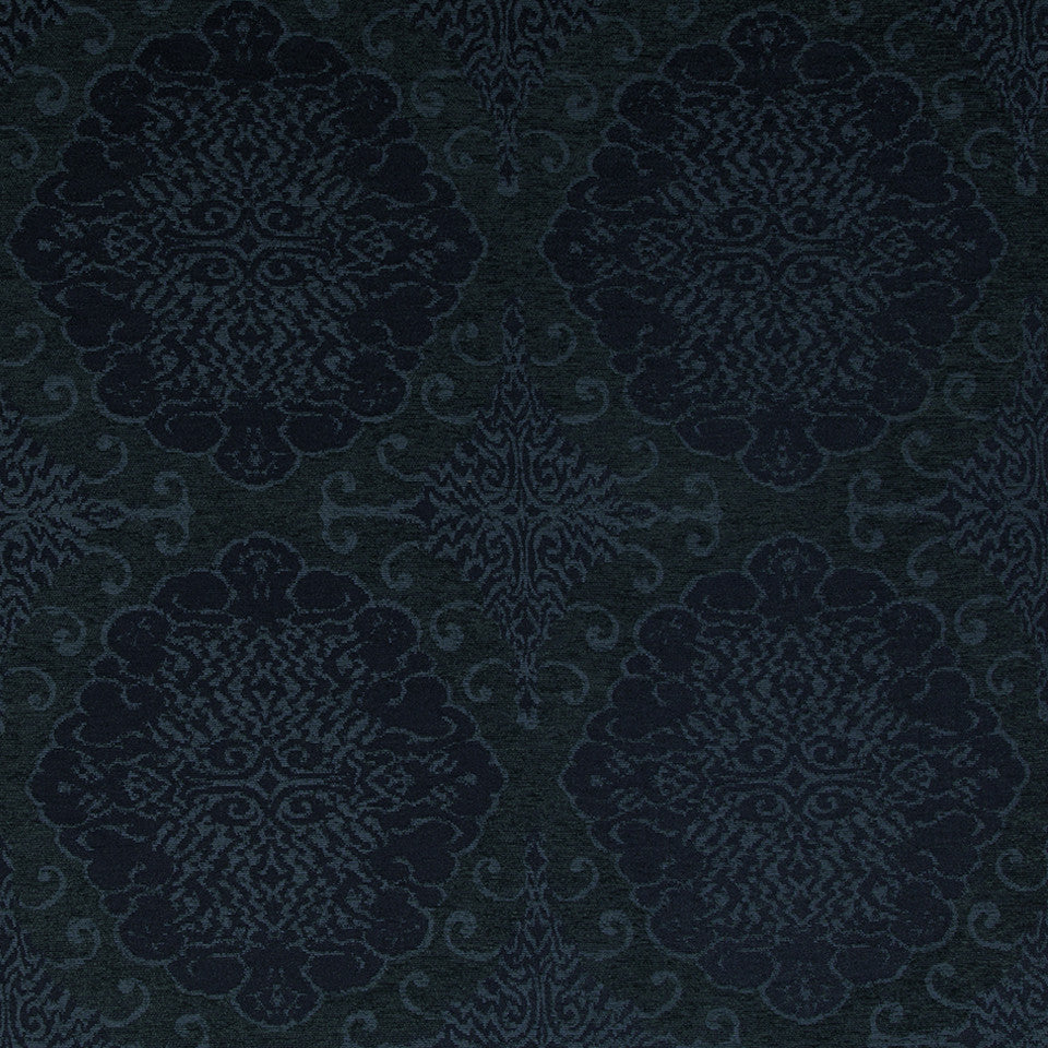 Grand Motif Bk Fabric - Azure