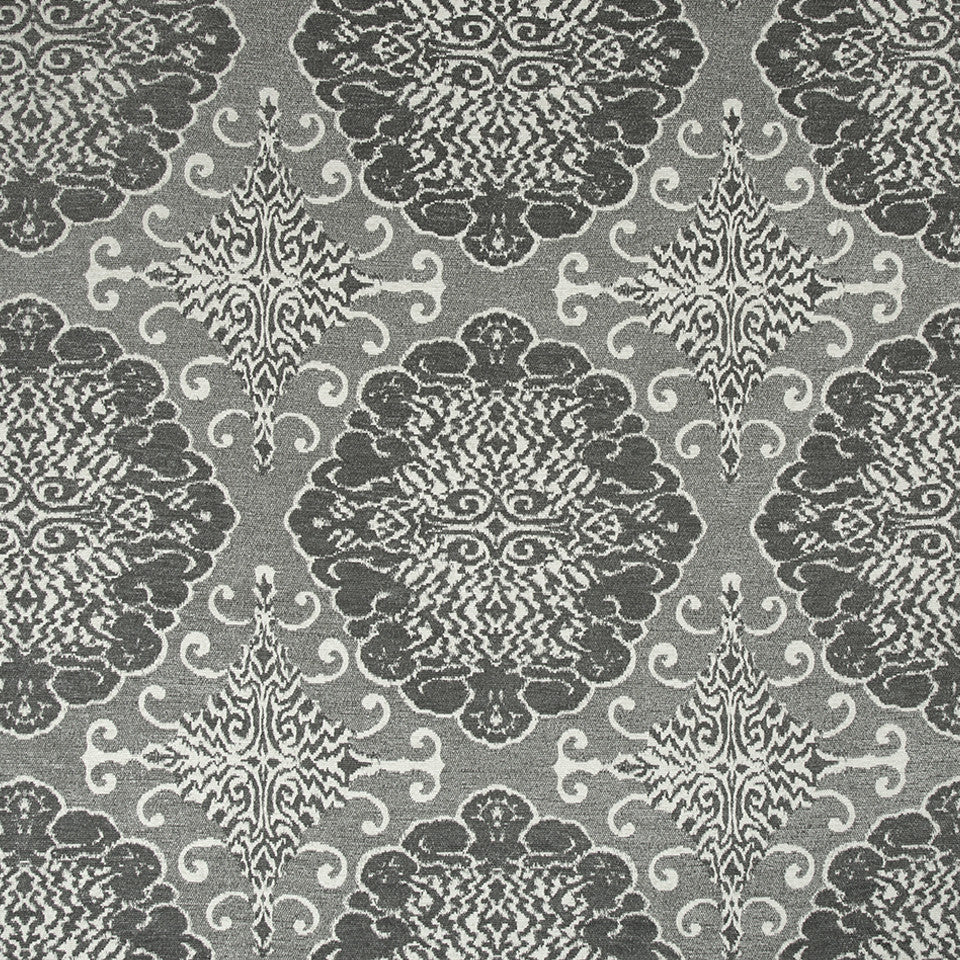 Grand Motif Bk Fabric - Greystone
