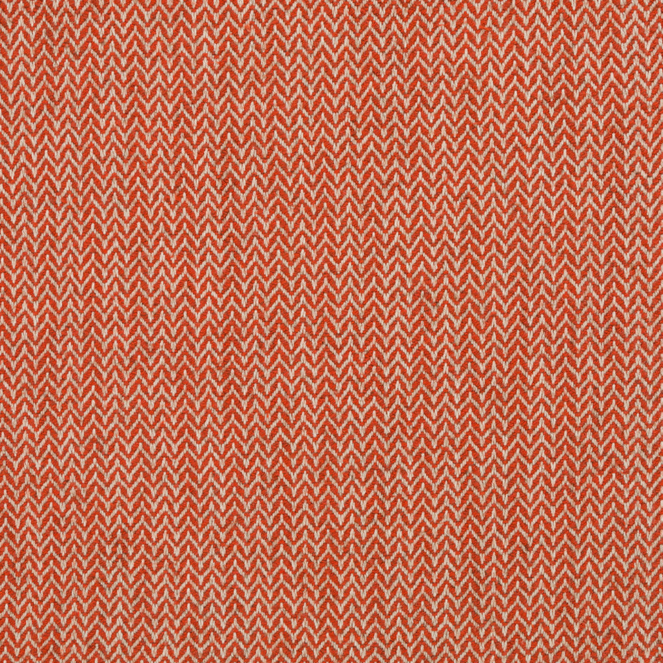 LINEN TEXTURES Flax Chevron Fabric - Clay