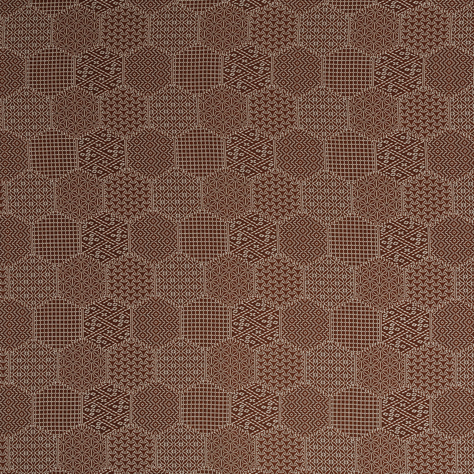 HENNA Stitched Hex Fabric - Henna