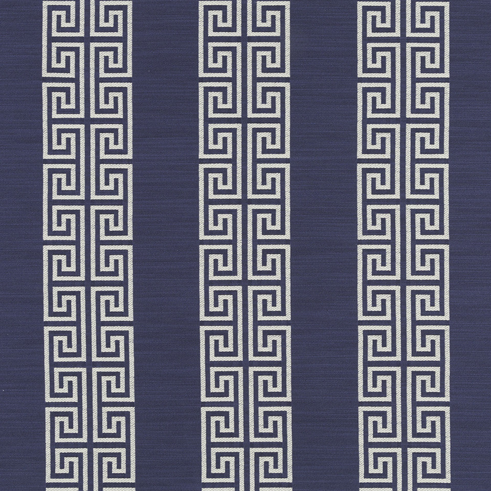MUSSEL SHELL Greek Stripe Fabric - Mussel Shell