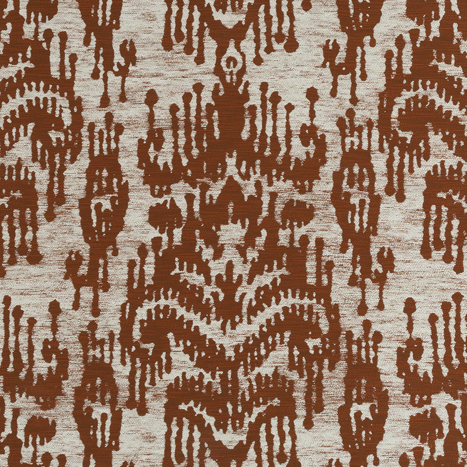 HENNA Painted Ikat Fabric - Henna