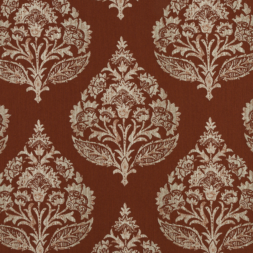 HENNA Regal Motif Fabric - Henna