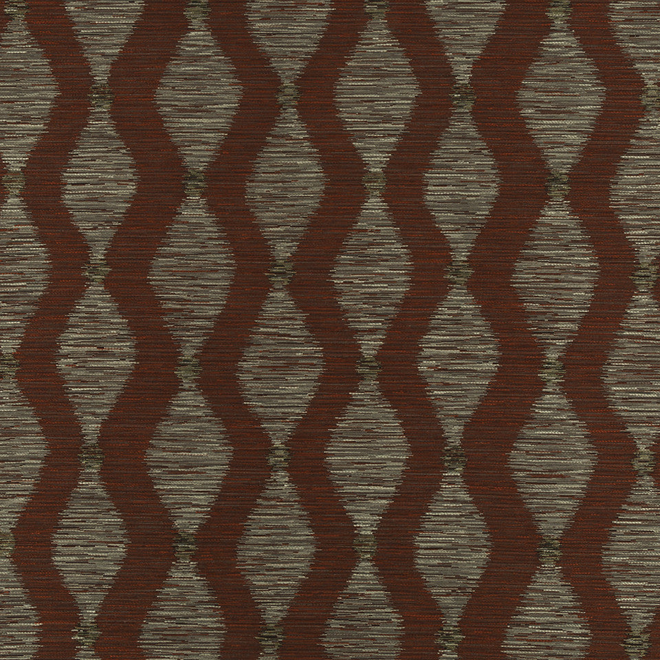 HENNA Ziggy Road Fabric - Henna