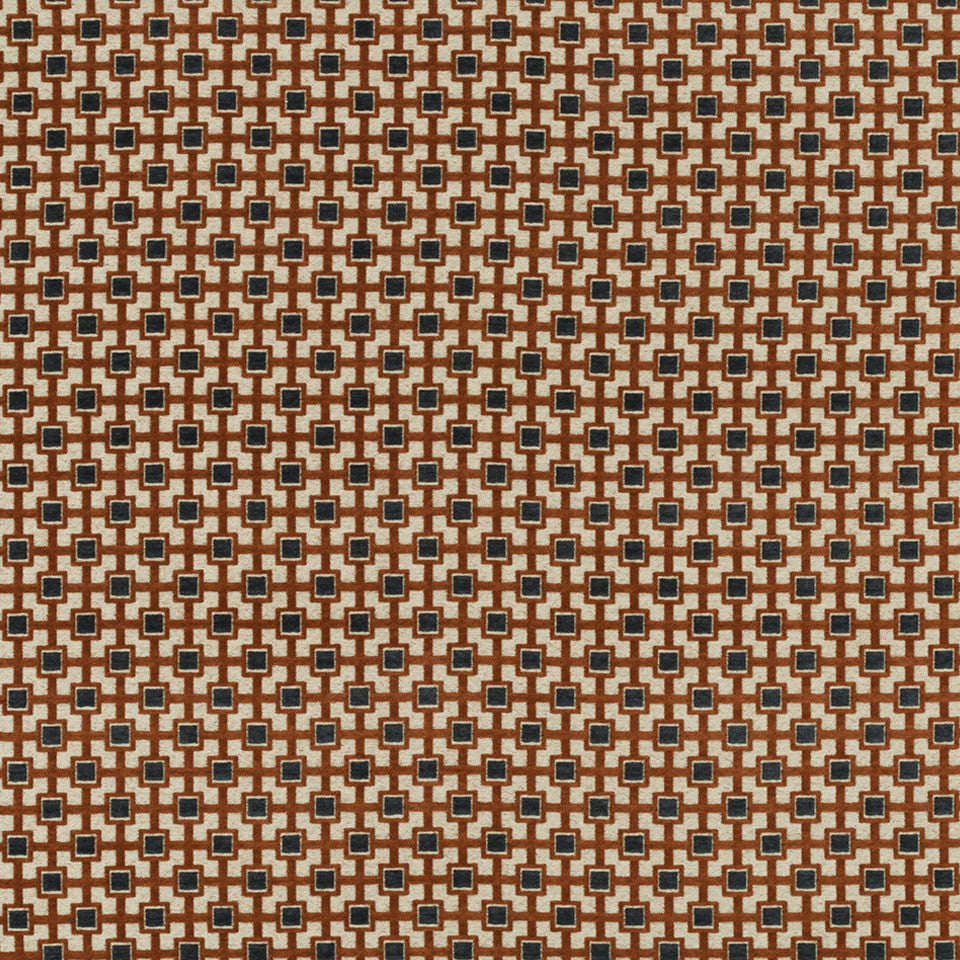 HENNA Double Block Fabric - Henna