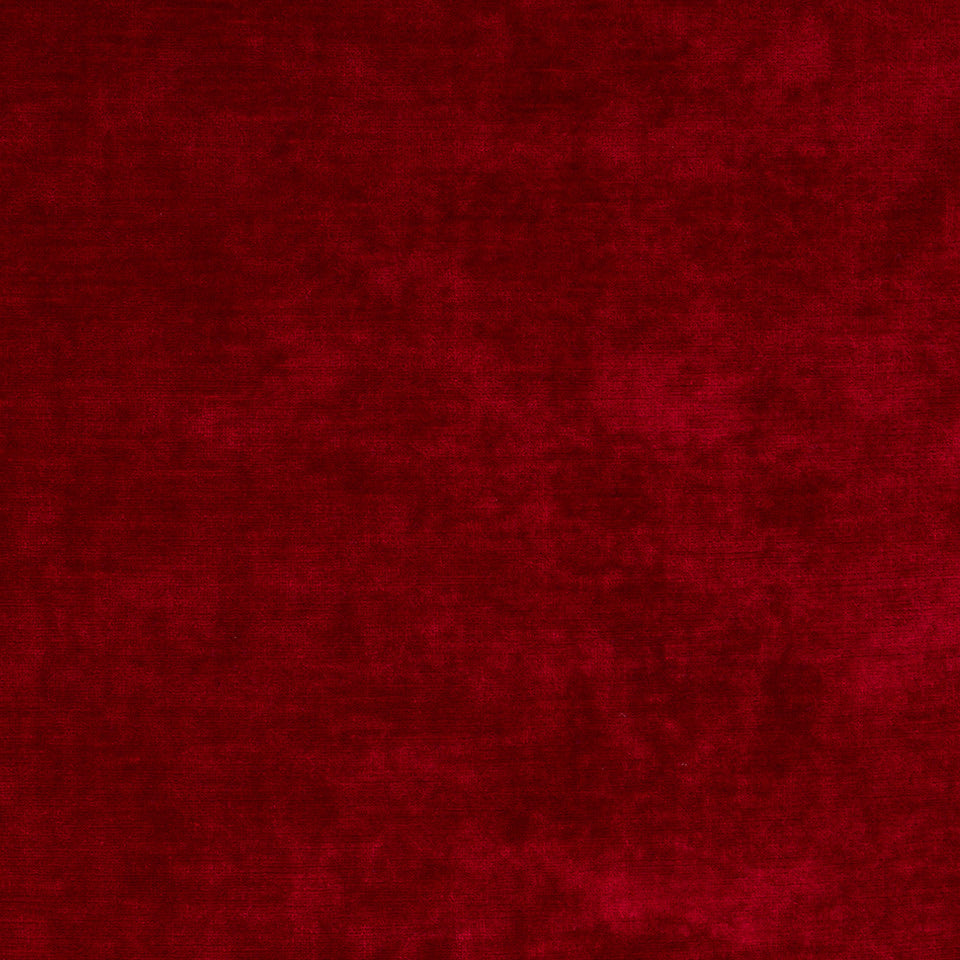LINEN VELVETS Lustre Velvet Fabric - Red Hot