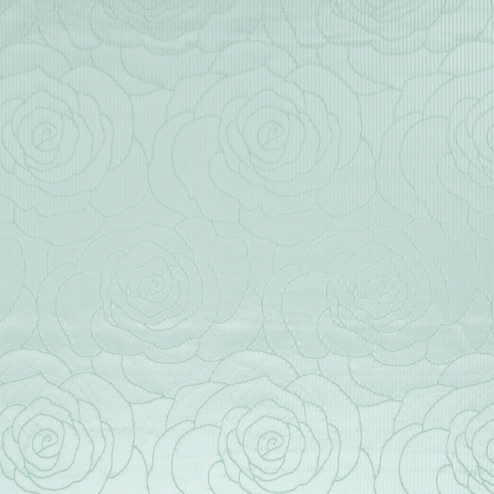 Silk Jacquards And Embroideries IV Camellia Weave Fabric - Pacific
