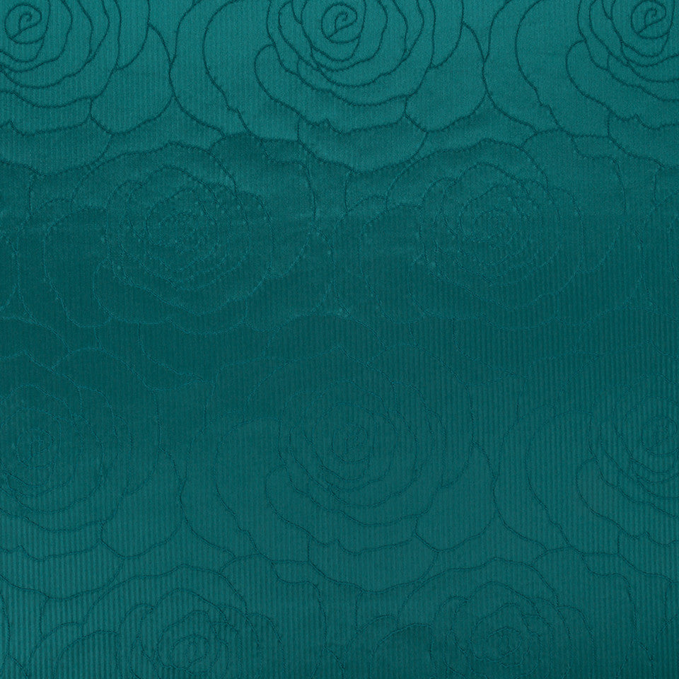 Silk Jacquards And Embroideries IV Camellia Weave Fabric - Neptune