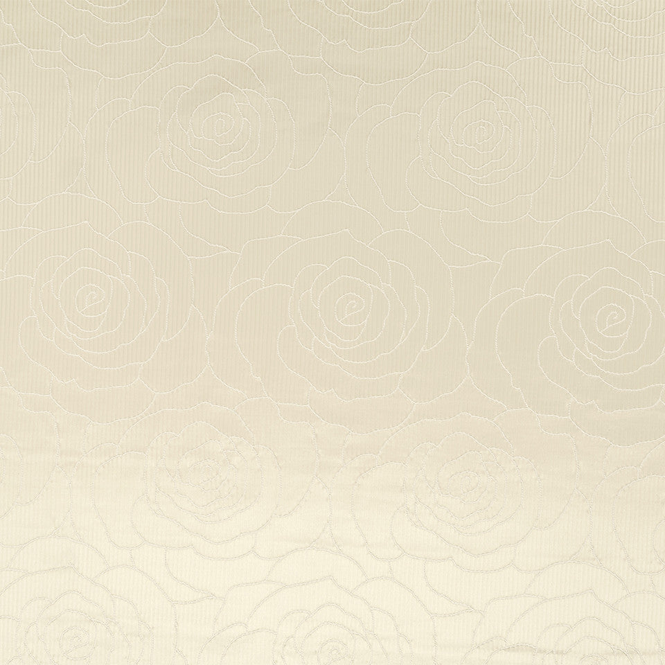 Silk Jacquards And Embroideries V Camellia Weave Fabric - Cream