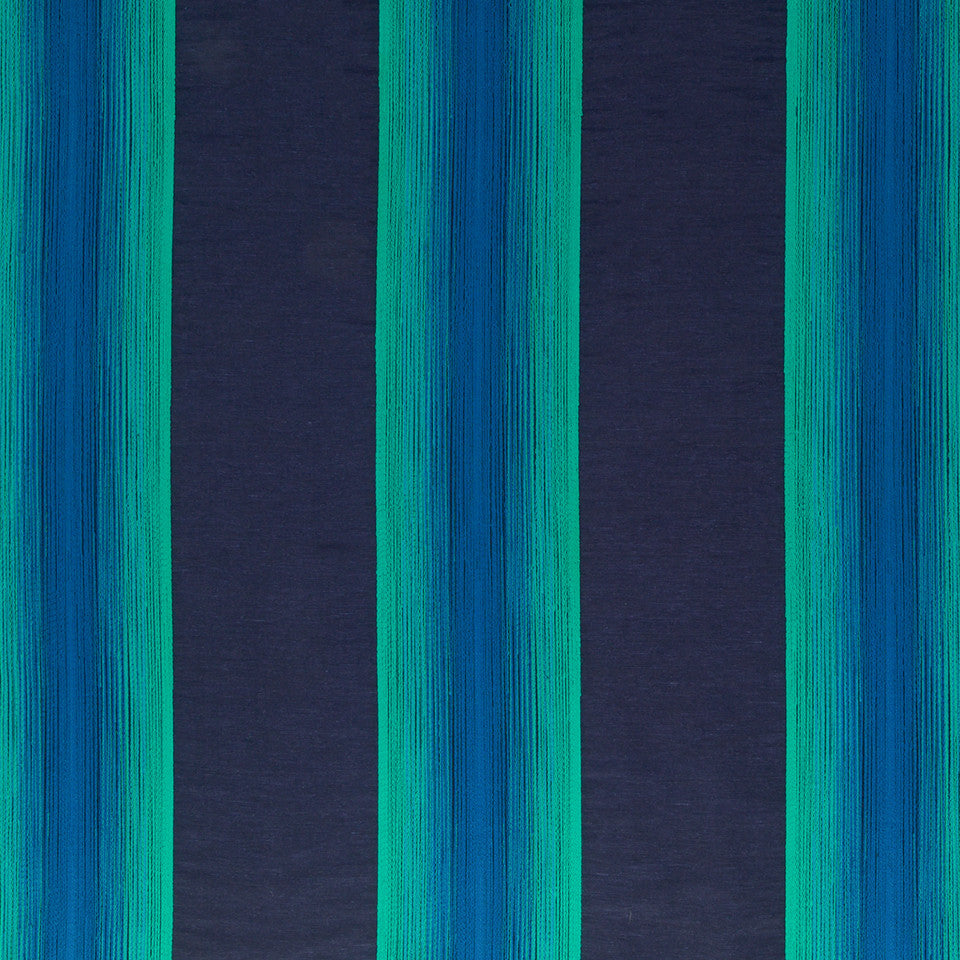 Silk Jacquards And Embroideries IV Alma Stripe Fabric - Navy
