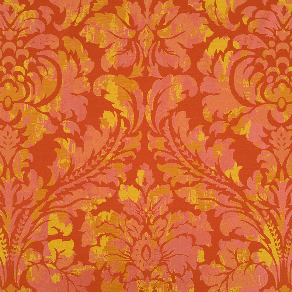 Silk Jacquards And Embroideries V Chambord Frame Fabric - Coral