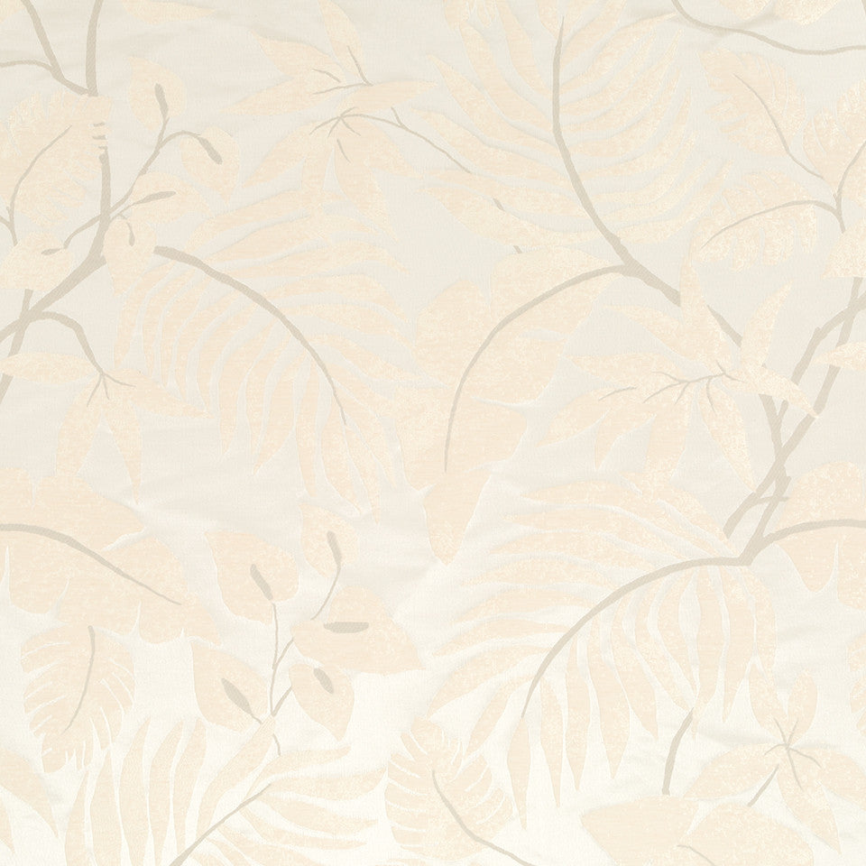 Silk Jacquards And Embroideries V Positano Palm Fabric - Cream