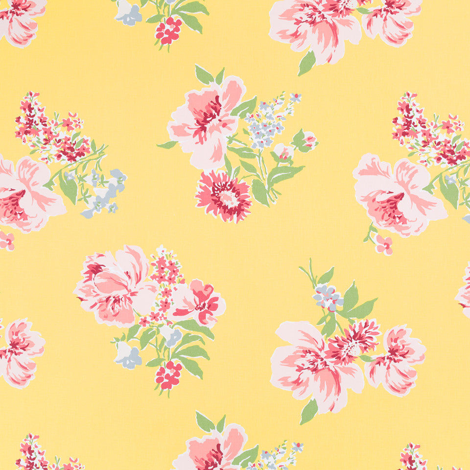 MADCAP COTTAGE INTO THE GARDEN Isleboro Eve Fabric - Daffodil
