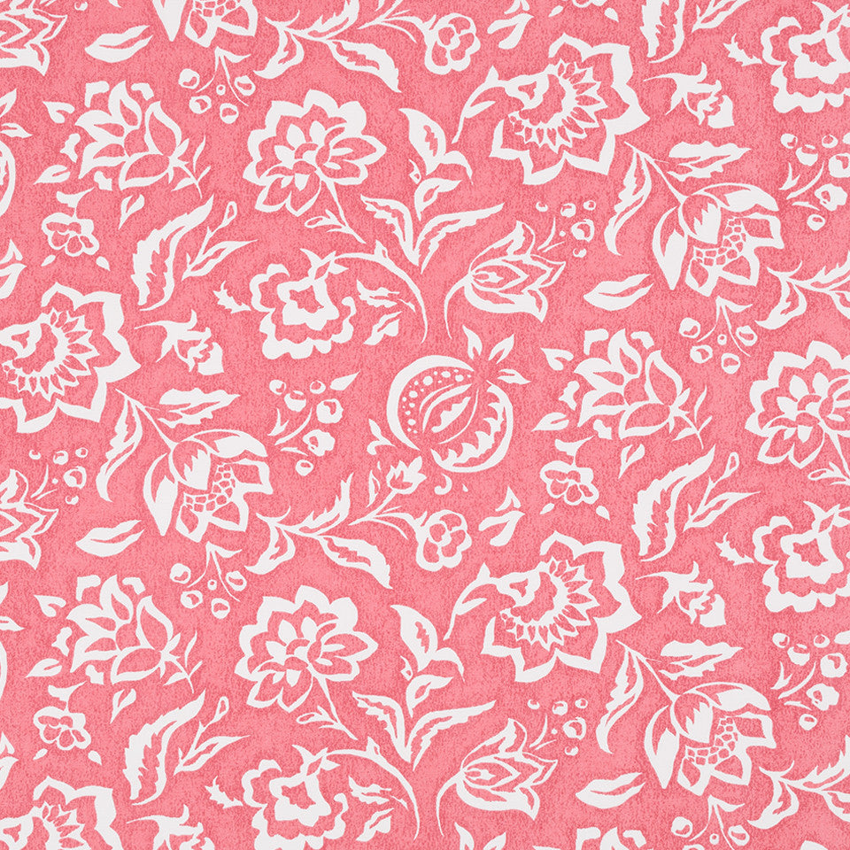 MADCAP COTTAGE INTO THE GARDEN Rokeby Road Fabric - Rhubarb