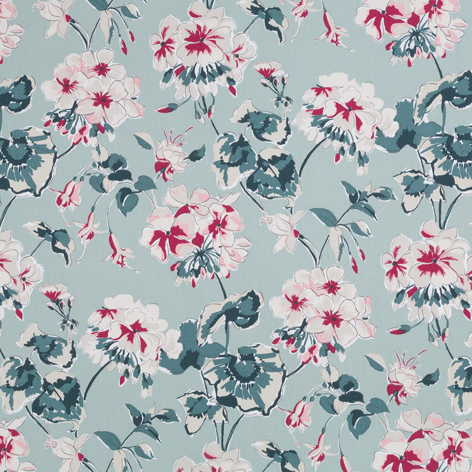 MADCAP COTTAGE INTO THE GARDEN Mirador Morn Fabric - Celadon