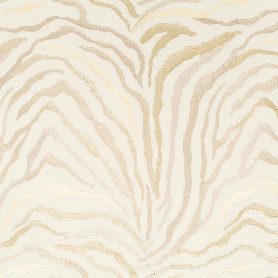 Silk Jacquards And Embroideries V Kilimanjaro Fabric - Travertine