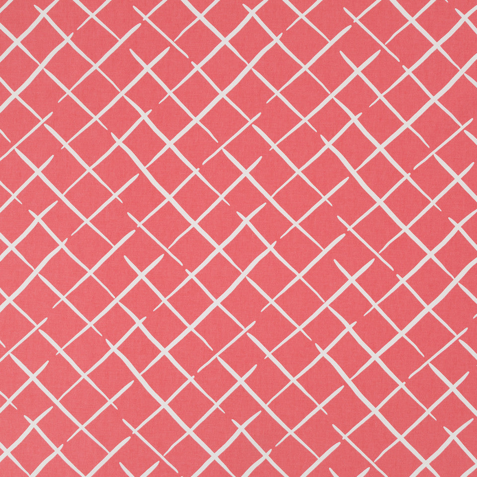 MADCAP COTTAGE INTO THE GARDEN Cove End Fabric - Rhubarb