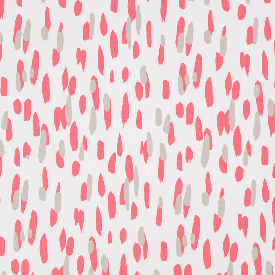MADCAP COTTAGE INTO THE GARDEN Mill Reef Fabric - Rhubarb