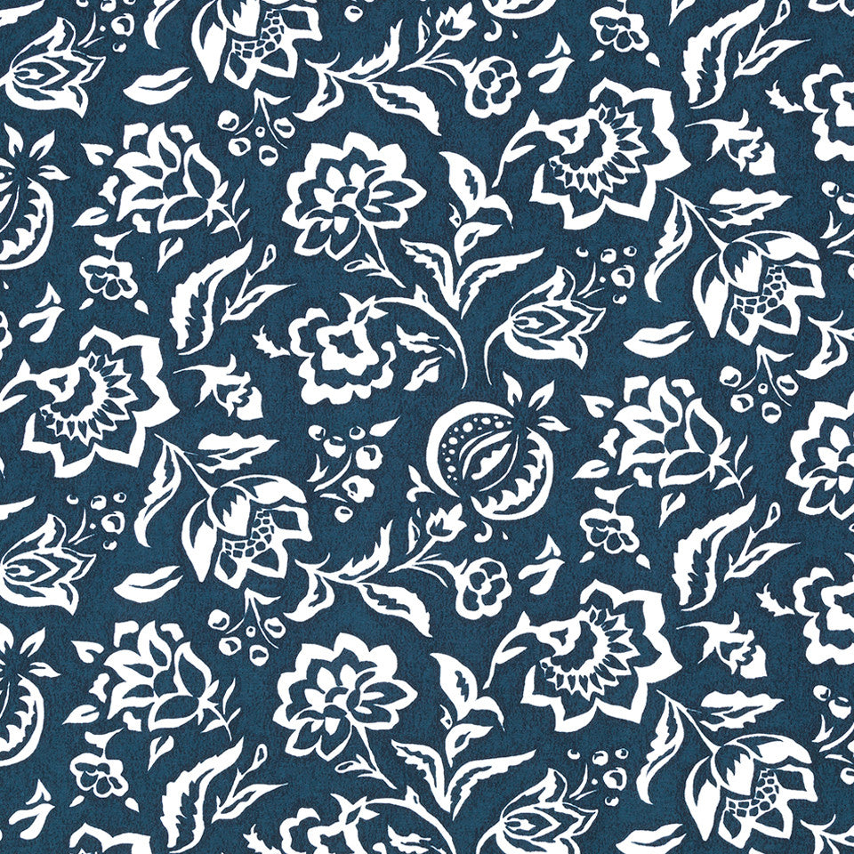 MADCAP COTTAGE INTO THE GARDEN Rokeby Road Fabric - Lagoon