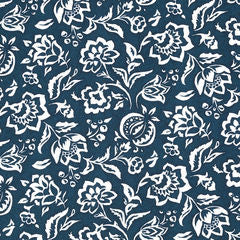 Madcap Cottage Rokeby Road Fabric- Lagoon Blue