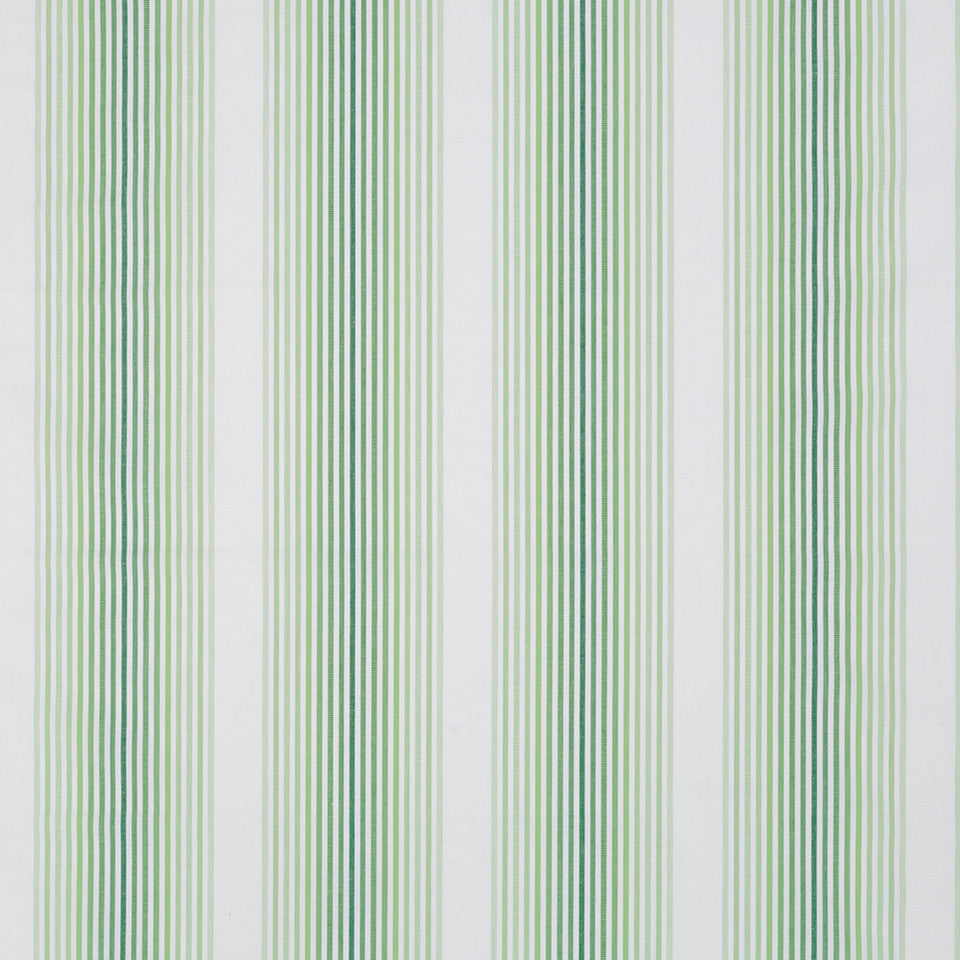 MADCAP COTTAGE INTO THE GARDEN Tivoli Stripe Fabric - Palm