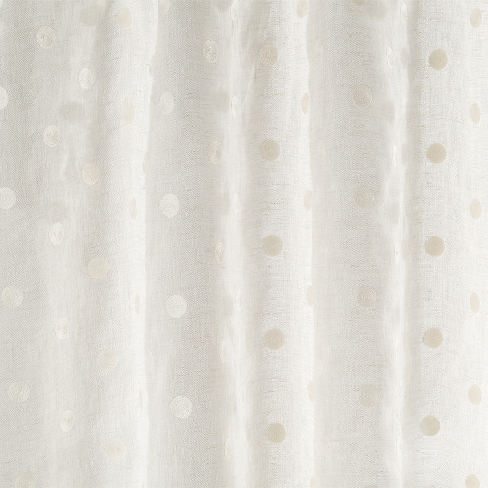 Patterned Sheers Spiral Spots Fabric - Driftwood