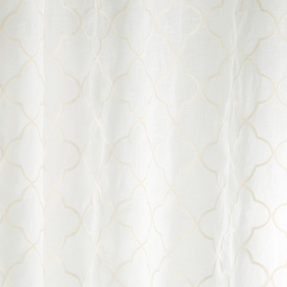 Patterned Sheers Quadrophenia Fabric - Pale Cream