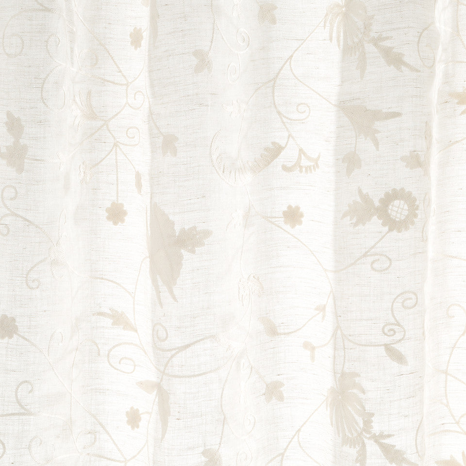 Patterned Sheers Wimbledon Fabric - Whitewash