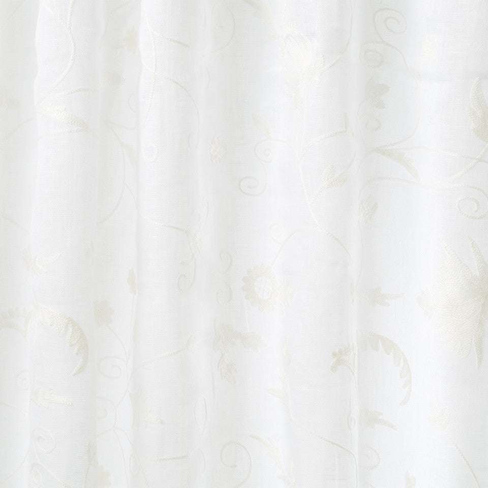 Patterned Sheers Wimbledon Fabric - Glacier