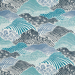 Madcap Cottage Windsor Park Fabric - Indigo Blue