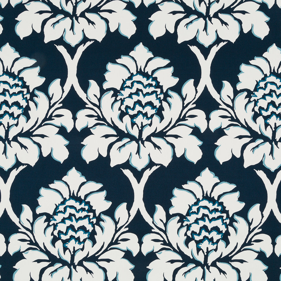 MADCAP COTTAGE INTO THE GARDEN Ditchley Park Fabric - Indigo