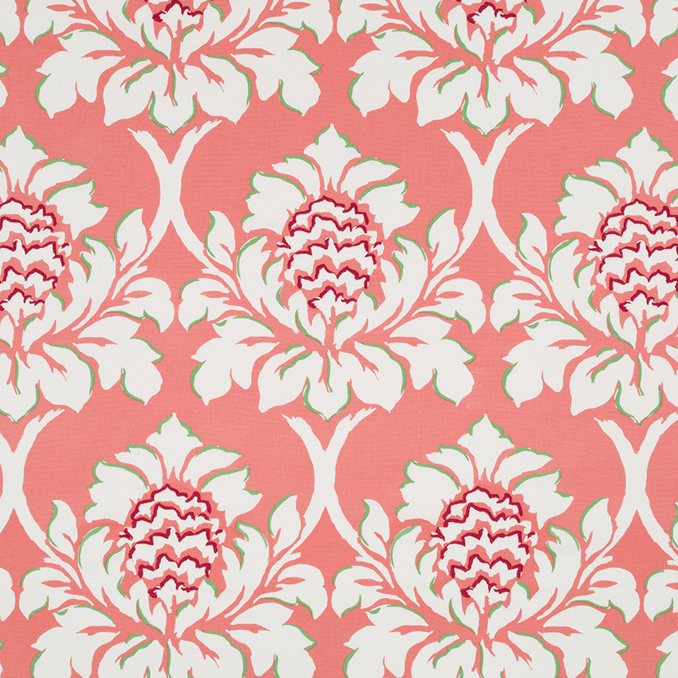 MADCAP COTTAGE INTO THE GARDEN Ditchley Park Fabric - Rhubarb