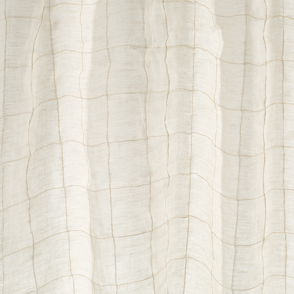 Patterned Sheers Square Flair Fabric - Whitewash