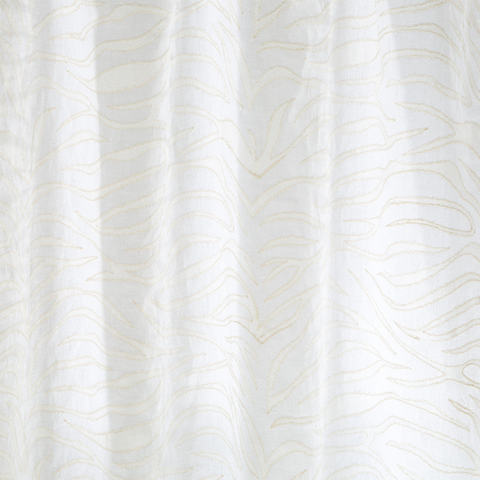 Patterned Sheers A La Mode Fabric - Sandstone