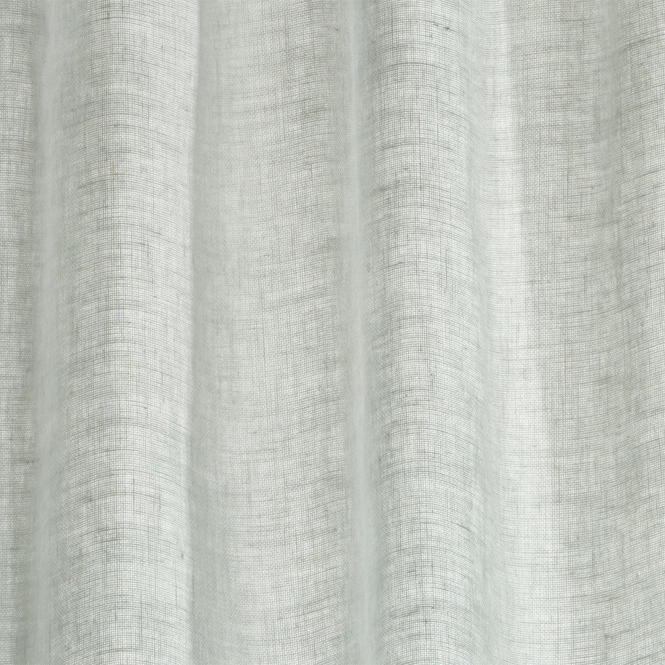 Matte Sheers Hemp Sheer Fabric - Zinc