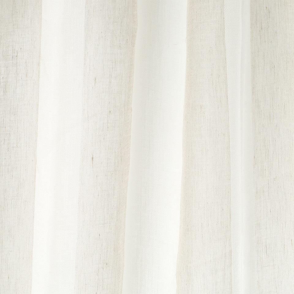 Patterned Sheers Twill Streak Fabric - Driftwood