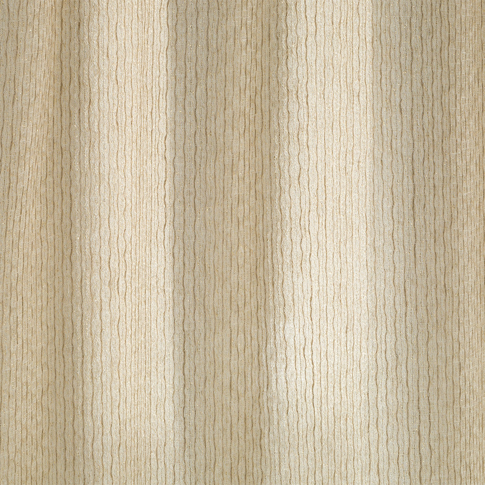 Patterned Sheers Glitter Row Fabric - Sandstone