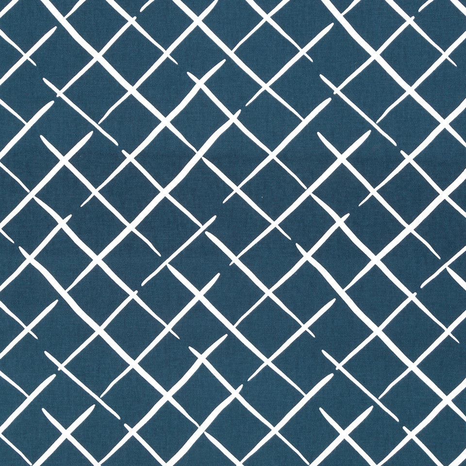 MADCAP COTTAGE INTO THE GARDEN Cove End Fabric - Indigo