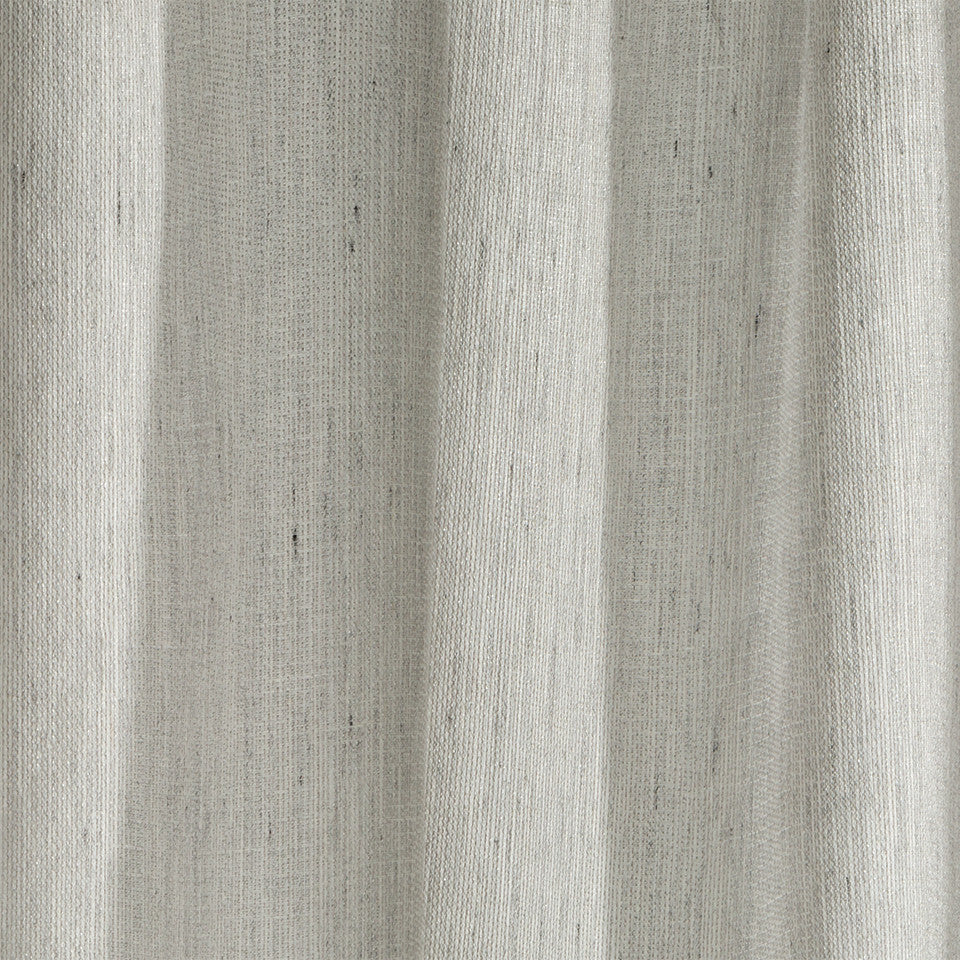 Lustrous Sheers Muted Metal Fabric - Zinc