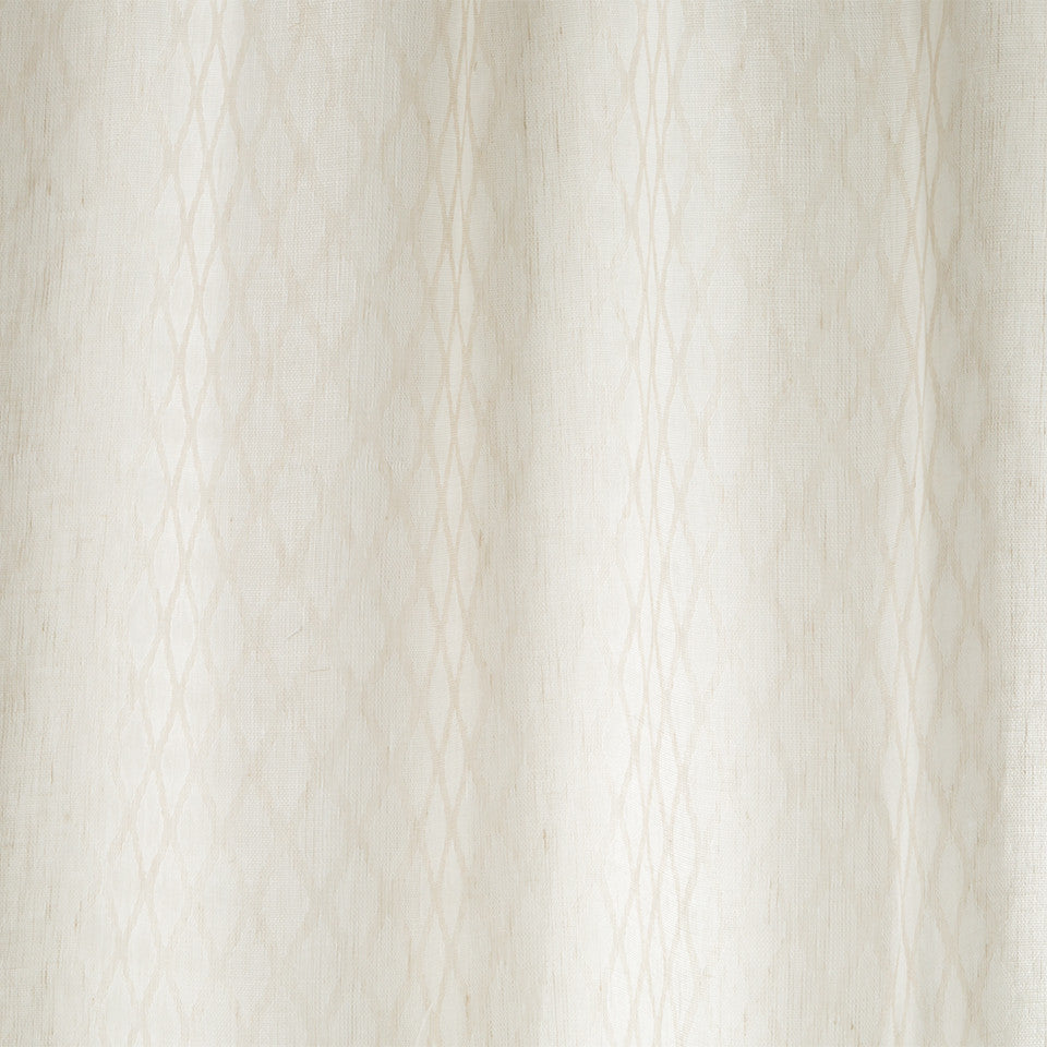 Patterned Sheers Sarriette Fabric - Whitewash