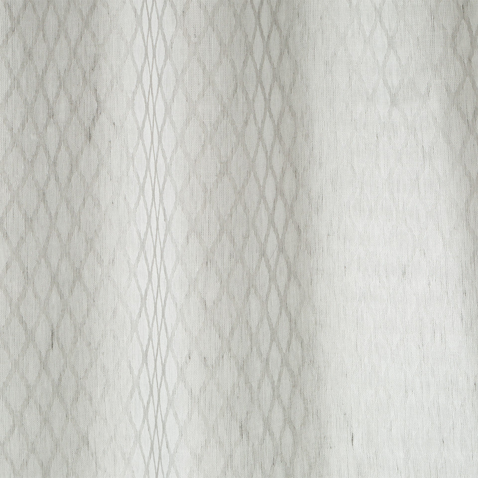 Patterned Sheers Sarriette Fabric - Zinc