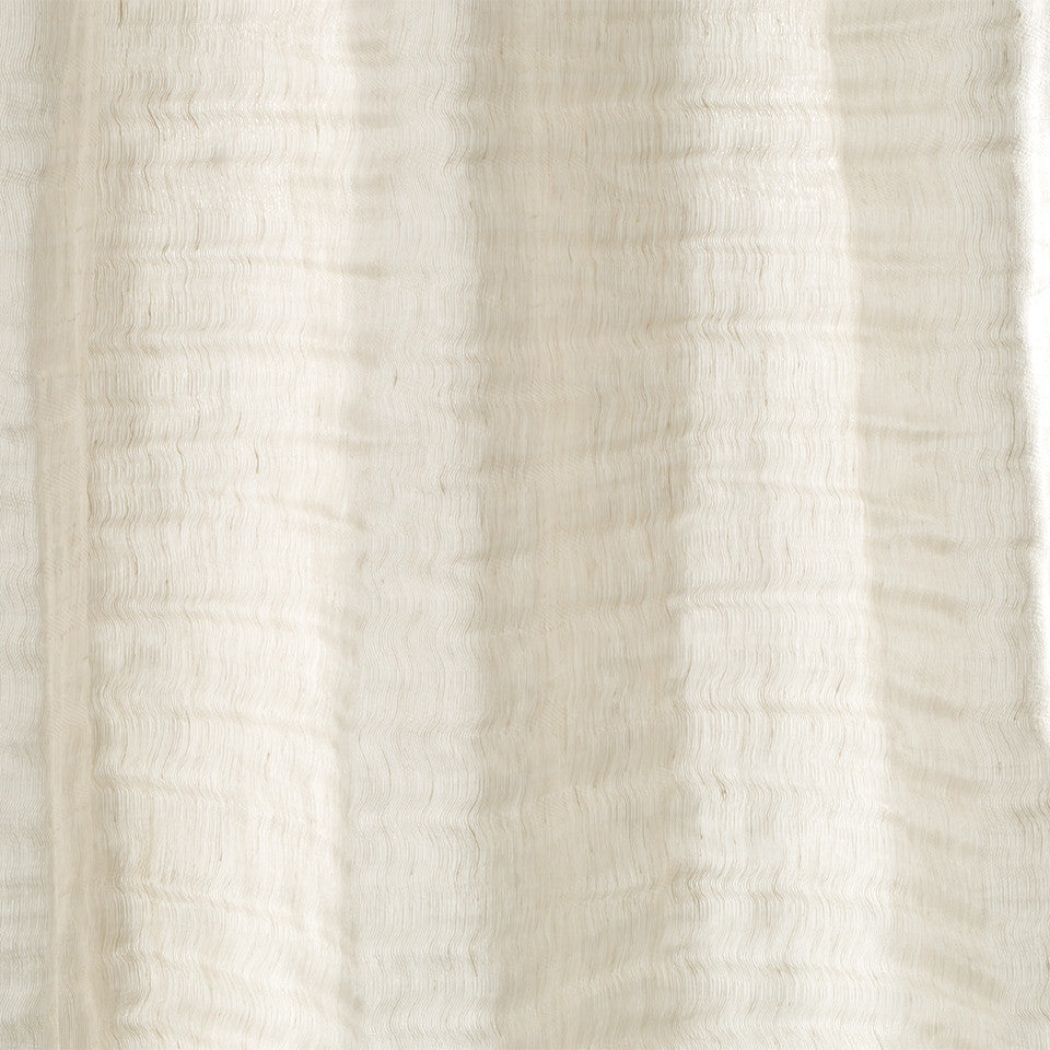 Lustrous Sheers Fine Lines Fabric - Buff