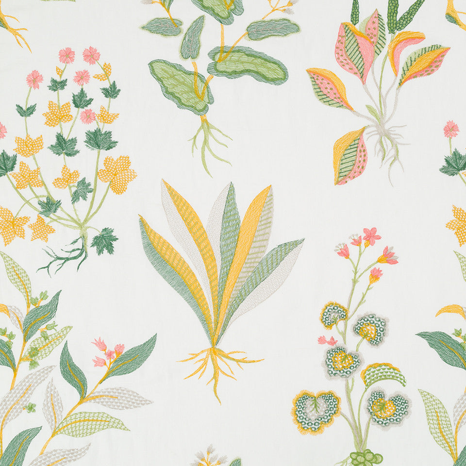 MADCAP COTTAGE INTO THE GARDEN Monsoon Palace Fabric - Daffodil