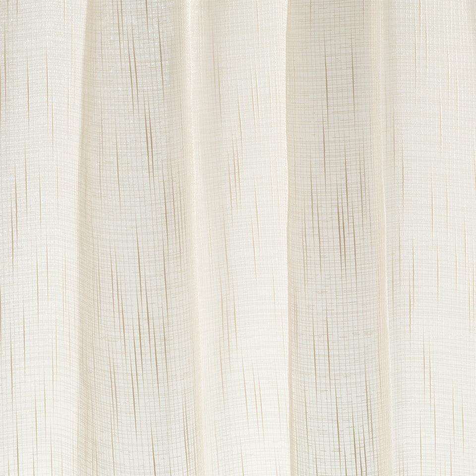 Lustrous Sheers Slub Shimmer Fabric - Birch