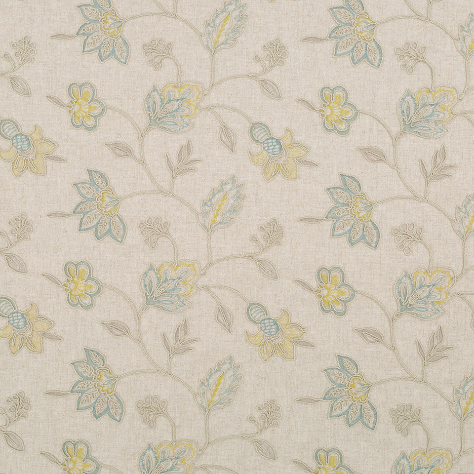 Decorative Drapery Cool Colors Lily Marie Fabric - Sea