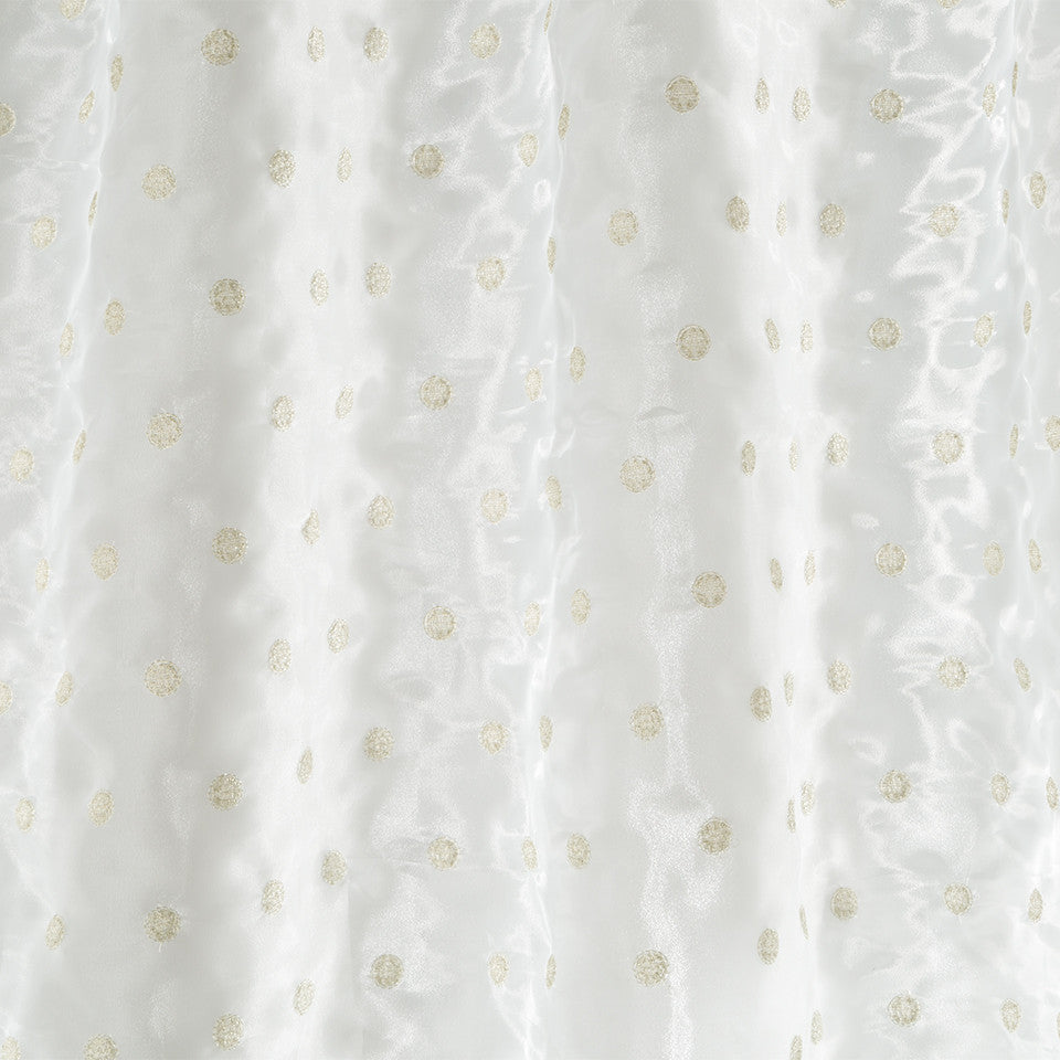 Patterned Sheers Metallic Dots Fabric - Pearl