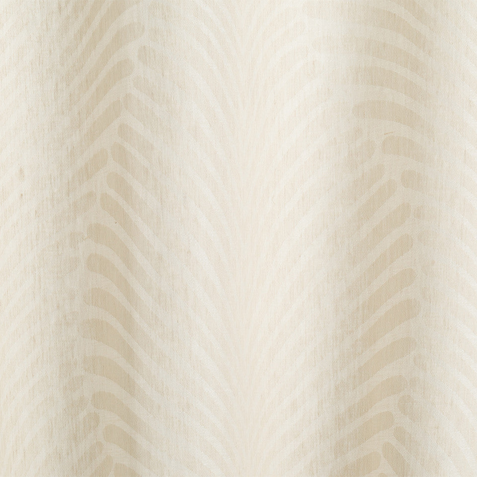 Patterned Sheers Deco Dream Fabric - Whitewash
