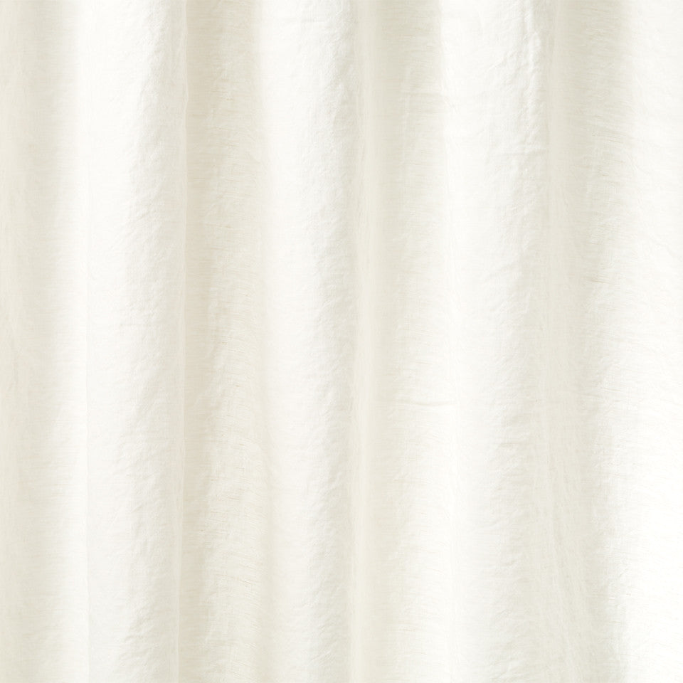 Matte Sheers Pure Lino Fabric - Pale Cream