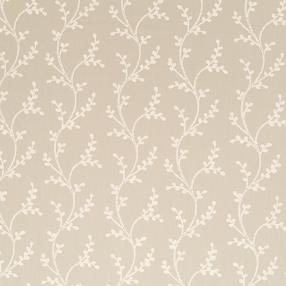 Decorative Drapery Warm Colors Vine Way Fabric - Driftwood